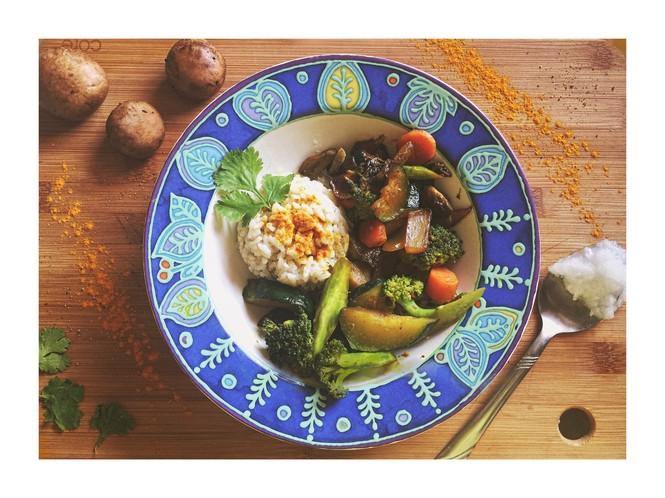 Veggie stir fry with coconut rice tajinny how to make veggie stir fry with coconut rice recipe ccuart Image collections